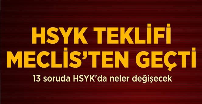 HSYK'da Değişiklik Öngören Teklif, Meclis'ten Geçti