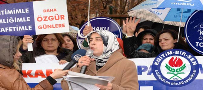 Memur-Sen'li Kadınlar 8 Mart'ta Meydanlara İndi