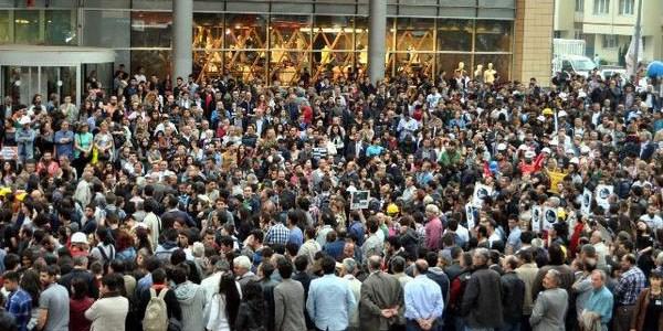 Başkent'te Soma protestosu