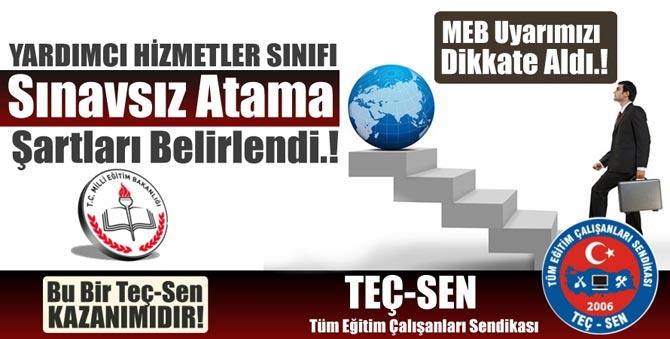 MEB Sınavsız Atama Şartları Belirlendi!
