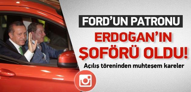 Bill Ford, Erdoğan'a şoförlük yaptı