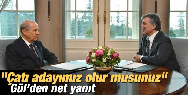 Bahçeli'den Abdullah Gül'e sürpriz