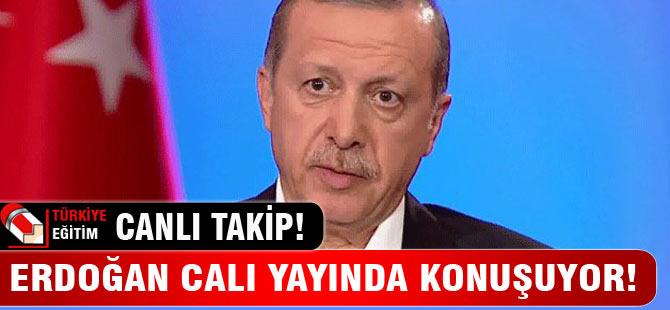 Erdoğan canlı yayında soruları yanıtlıyor