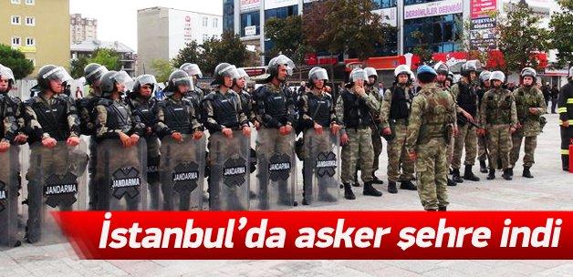 İstanbul'da asker şehre indi
