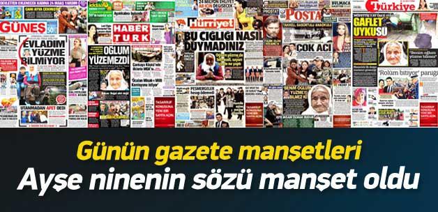 31 Ekim 2014 gazete manşetleri