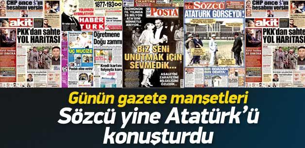 10 Kasım 2014 gazete manşetleri
