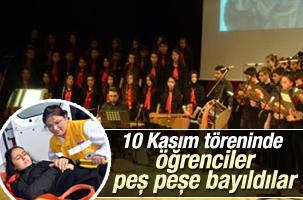 10 Kasım töreninde öğrenciler bayıldı
