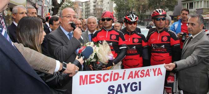 Pedallar Mescid-i Aksa İçin Dönüyor