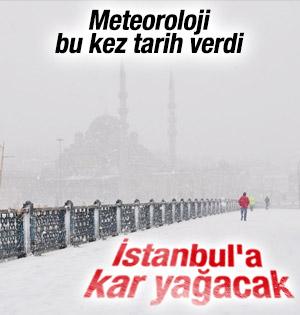 Meteoroloji İstanbul'a yağacak karın tarihini verdi