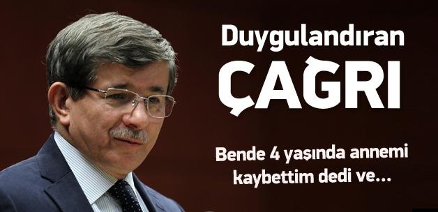 Davutoğlu'ndan vatandaşa ''yetim'' çağrısı