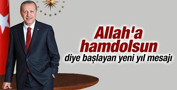 Cumhurbaşkanı Erdoğan yeni yıl mesajı yayınladı