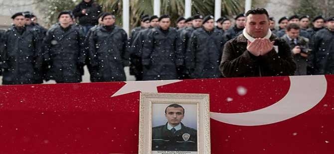 Şehit polis memuru Kumaş defnedildi