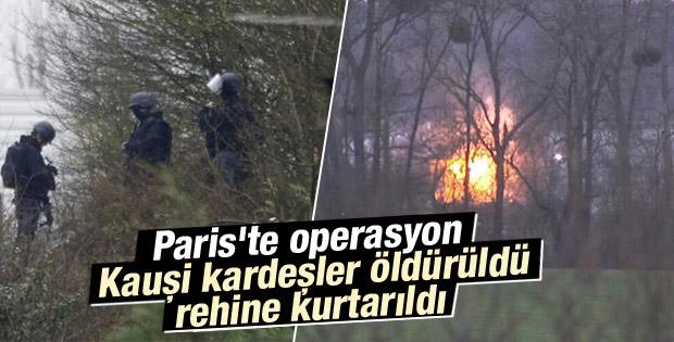 Paris saldırganları öldürüldü