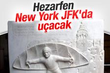 JFK Havalimanı'na Hezarfen Ahmet Çelebi rölyefi