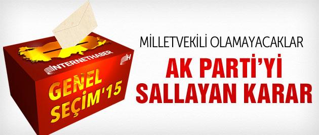 AK Parti'den aday adayı olamayacak kişiler
