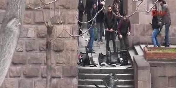 Ankara Üniversitesi'nde kavga: 46 gözaltı
