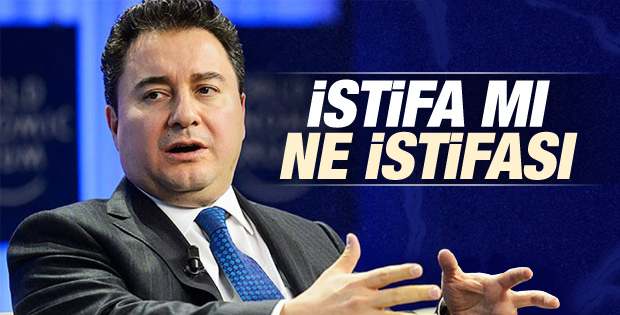 Ali Babacan istifa etti iddialarına yalanlama
