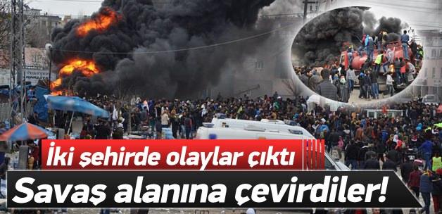 Batman ve Şırnak'ta olaylar çıktı!