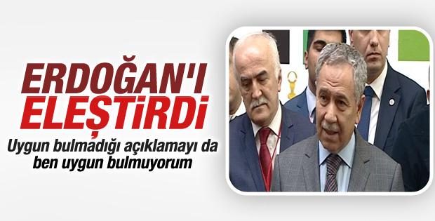Bülent Arınç Erdoğan'ın konuşmalarını değerlendirdi