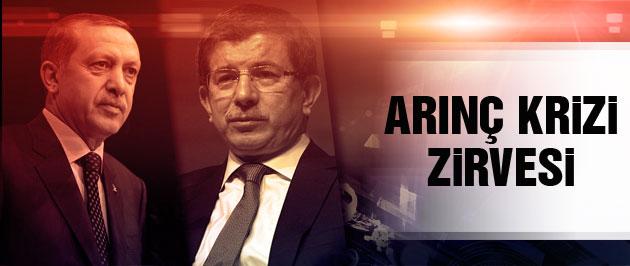 Erdoğan ve Davutoğlu'ndan Arınç krizi zirvesi