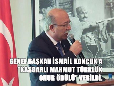 Koncuk'a Kaşgarlı Mahmut Türklük Onur Ödülü