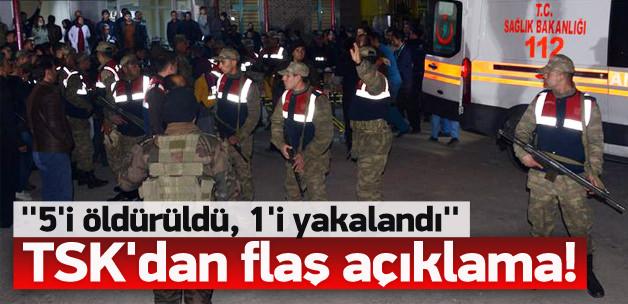 TSK'dan flaş açıklama: 5 terörist öldürüldü