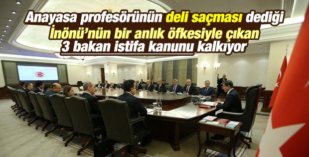 3 bakanın istifası geleneği kalkacak