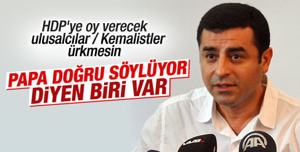 Ermeni soykırımı vardır diyen Papa'ya HDP'den destek