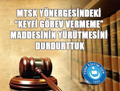 MTSK Yönergesinin O Maddesine İptal!