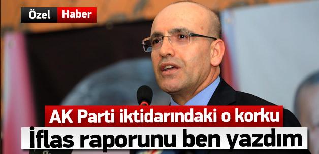Şimşek: Türkiye'nin iflas riski için rapor yazdım