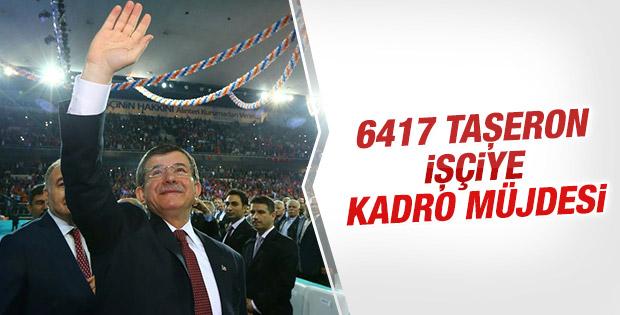 Davutoğlu Ankara'da karayolları işçilerine hitap etti