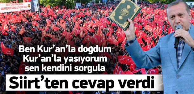 Cumhurbaşkanı Erdoğan Siirt'te konuştu