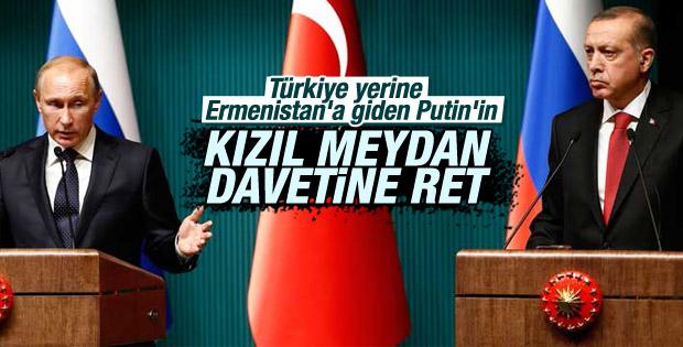 Cumhurbaşkanı Erdoğan'dan Putin'e olumsuz yanıt
