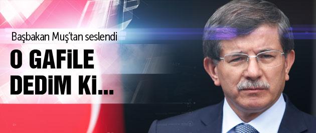 Davutoğlu Muş'taki seçim mitinginde flaş açıklamalar