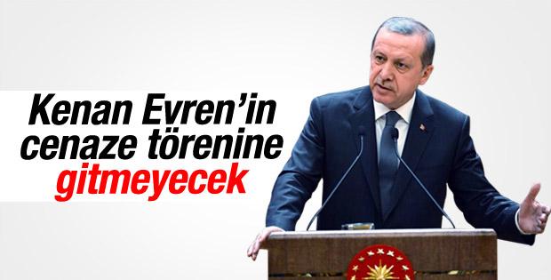Cumhurbaşkanı Erdoğan Evren'in cenazesine gitmeyecek