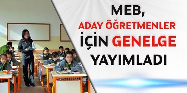 MEB, aday öğretmenler için genelge yayımladı