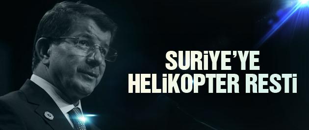 Davutoğlu'ndan son dakika Suriye helikopter açıklaması