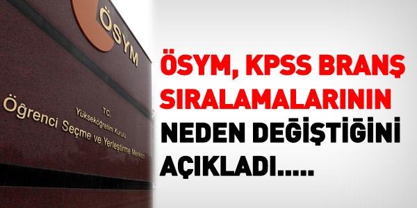 ÖSYM, KPSS sıralamalarının neden değiştiğini açıkladı
