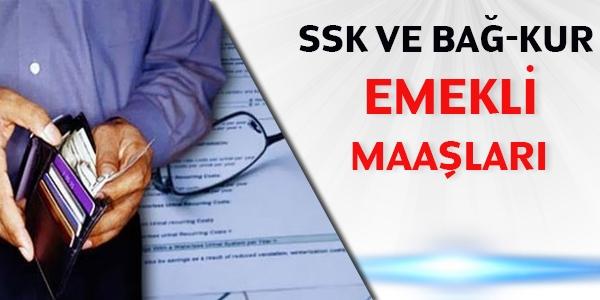 SSK ve Bağ-Kur emekli maaşları