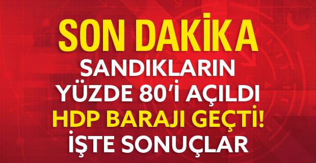 Sandıkların Yüzde 80'i Açıldı, HDP Barajı Geçti