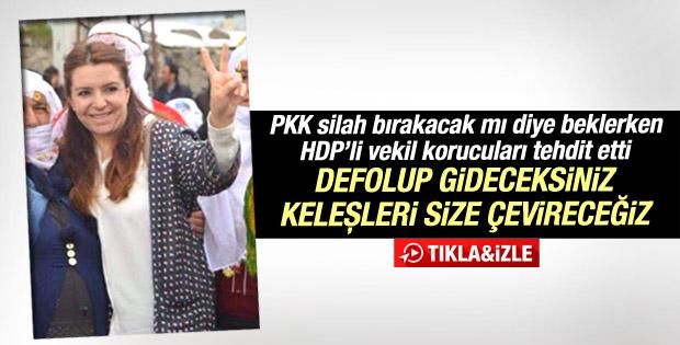 HDP'li kadın milletvekili korucuları tehdit etti