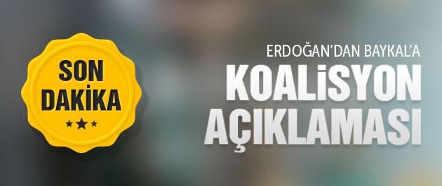 Baykal'dan son dakika Erdoğan ve koalisyon açıklaması