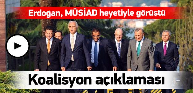 Erdoğan, MÜSİAD heyetiyle görüştü