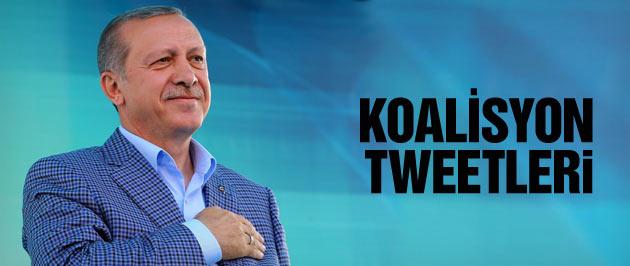 Erdoğan'dan koalisyon tweetleri kimsenin hakkı yok!