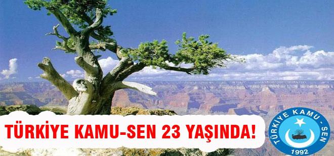 Türkiye Kamu-Sen 23 Yaşında