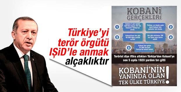 Erdoğan: Türkiye'yi DAEŞ'le anmak namertliktir