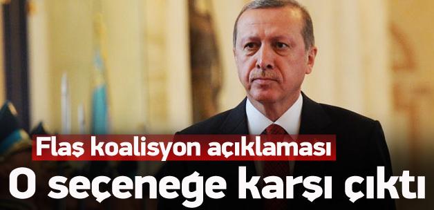 Erdoğan'dan flaş koalisyon açıklaması