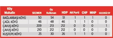 Bazı köylerde HDP'ye seçmen sayısından fazla oy çıktı
