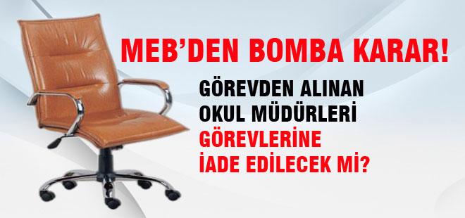MEB'den Bomba Yönetici Atama Kararı