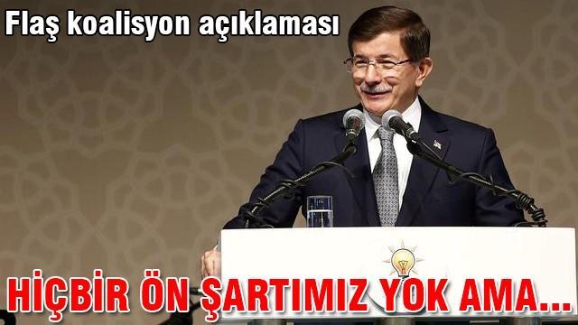 """Başbakan Davutoğlu'dan """"koalisyon"""" açıklaması"""